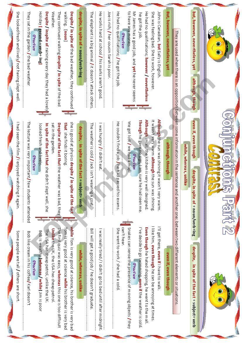 Conjunctions Part 2 worksheet