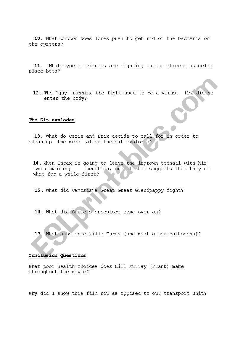 worksheet. Osmosis Jones Movie Worksheet. Worksheet Fun Worksheet ...