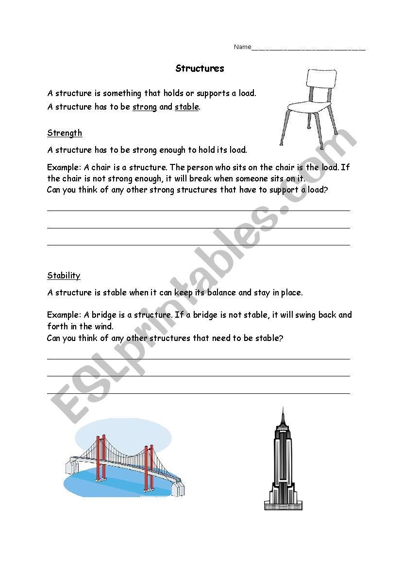 worksheet Grade 3 Structures Worksheets english worksheets grade 3 science structures worksheet