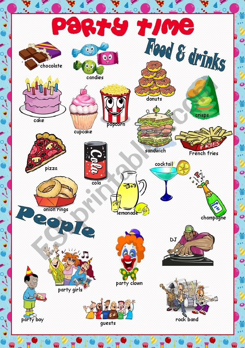 Party Time Picture Dictionary#2