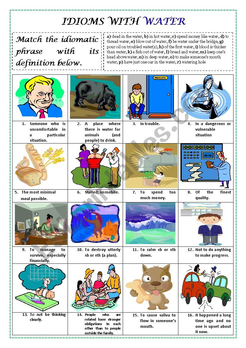 IDIOMS WITH