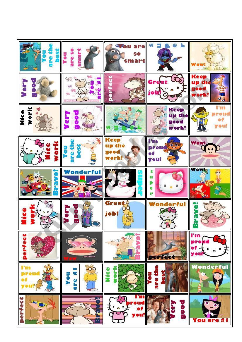 Rewards Stickers kids LOVE- #3