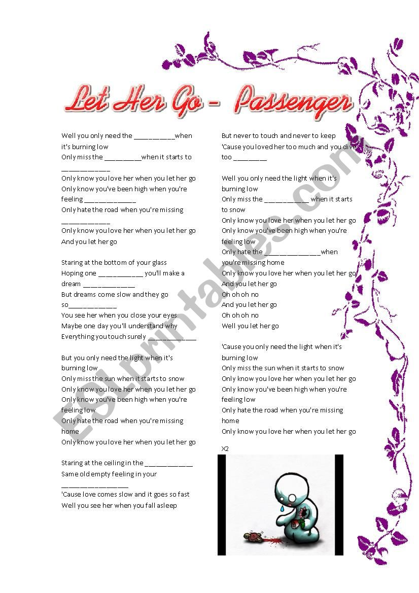 you only love her when you let her go lyrics