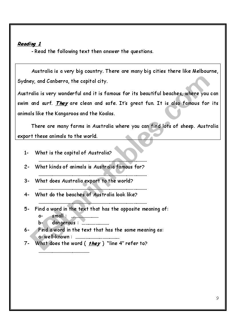 - Revision Sheets Depend On Reading Passages - ESL Worksheet By