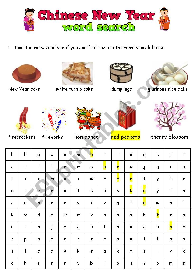 chinese new year word search esl worksheet by kunter. Black Bedroom Furniture Sets. Home Design Ideas