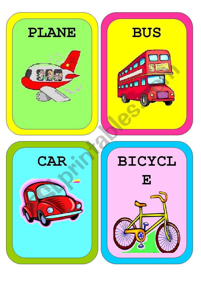 Means of Transport - Flashcards - ESL worksheet by ...