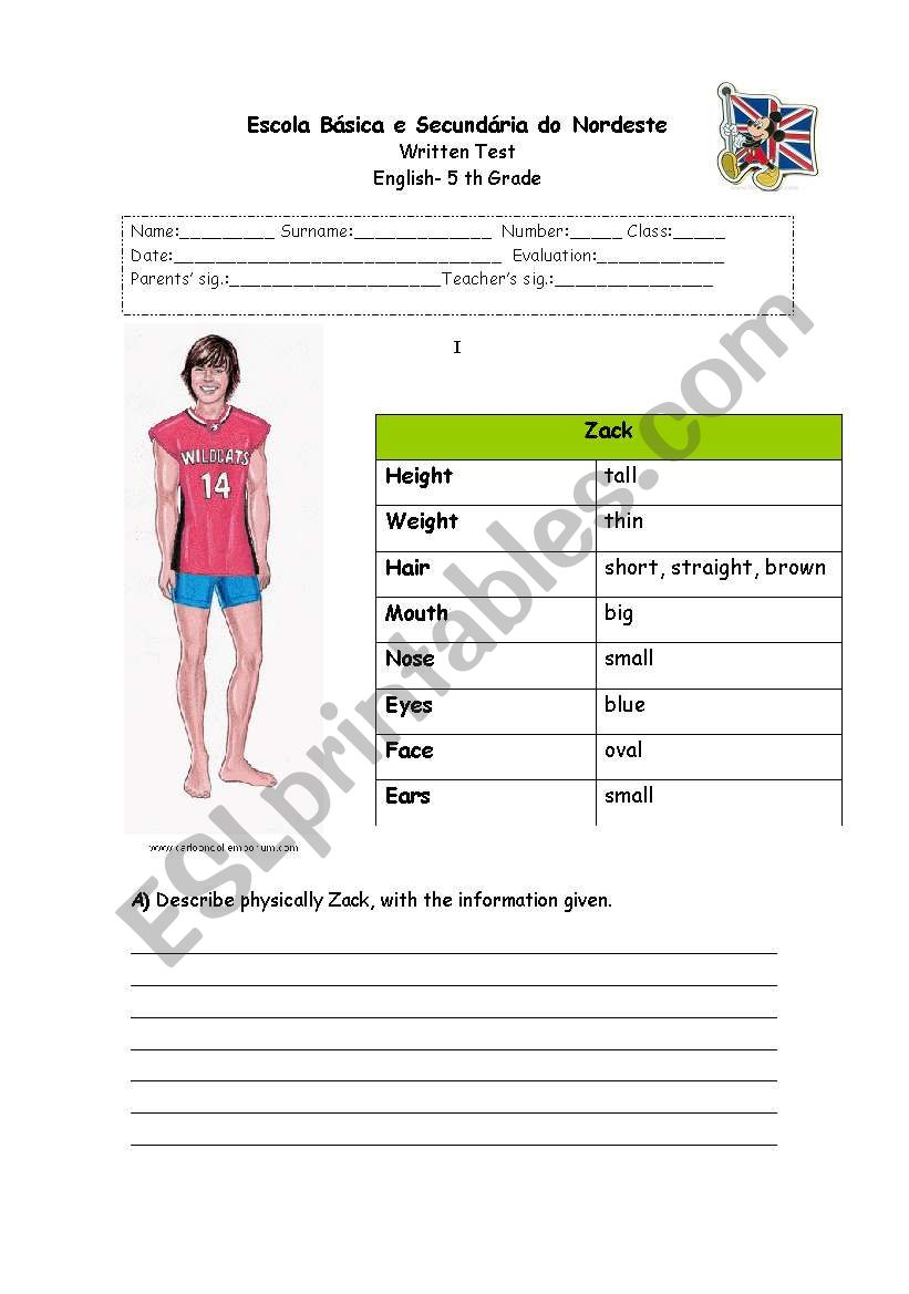 Test  worksheet