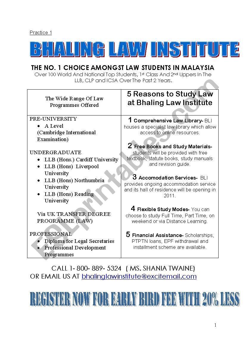 Information transfer practice 1