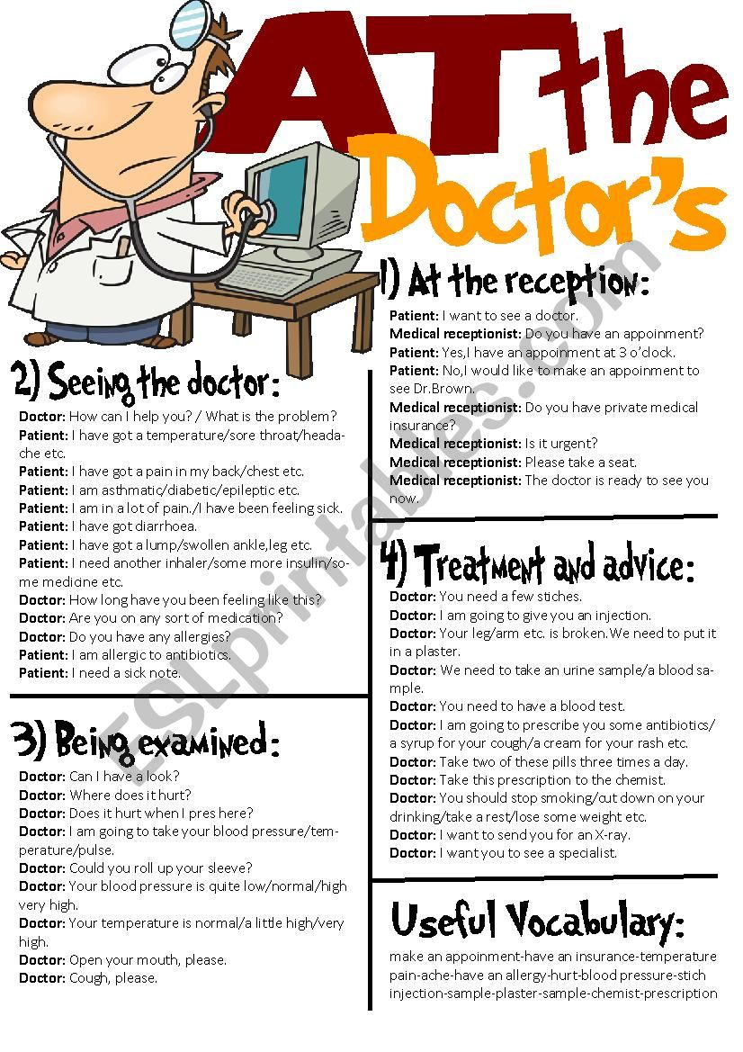 At The Doctor´s-Useful Expressions/Roleplay