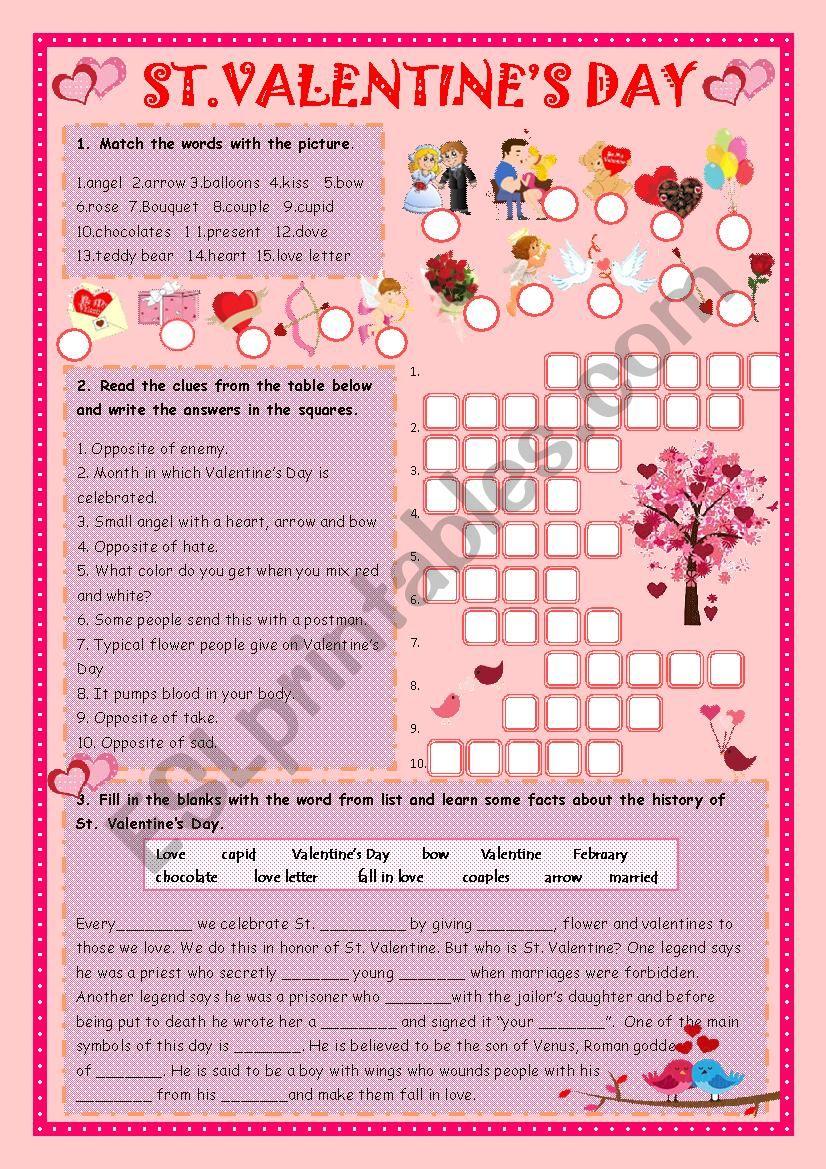 Valentine vocabulary word quiz - ESL worksheet by aryzii0212