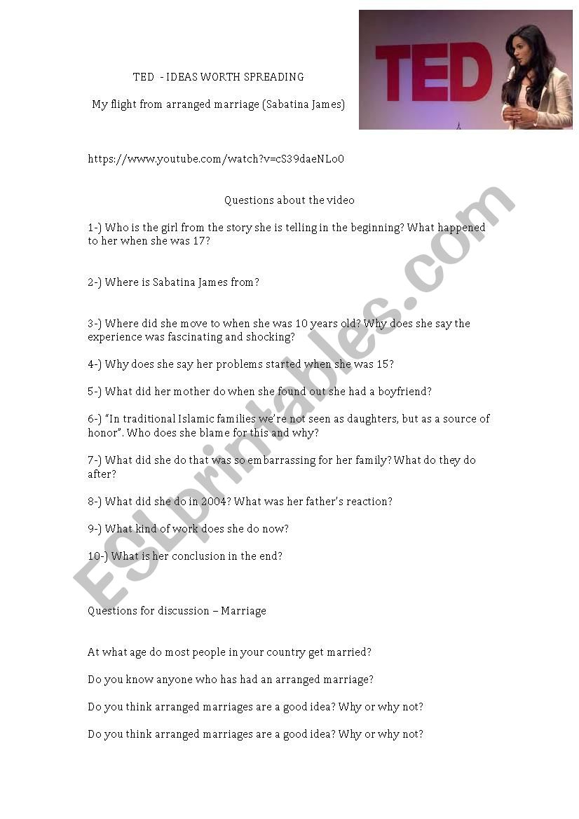 Arranged Marriage - TED TALKS (Sabatina James)