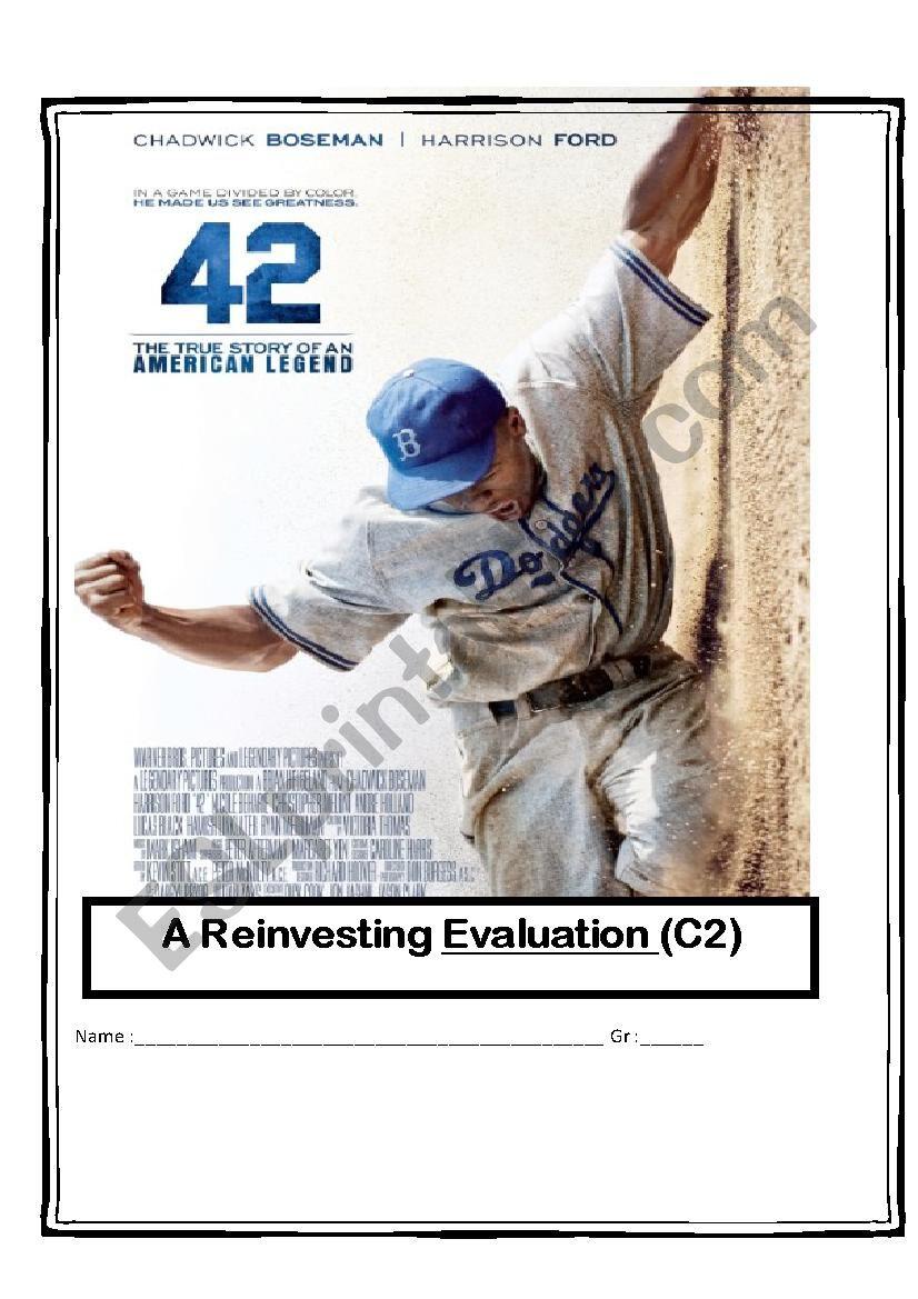 42 The Jackie Robinson Movie Esl Worksheet By Heidou