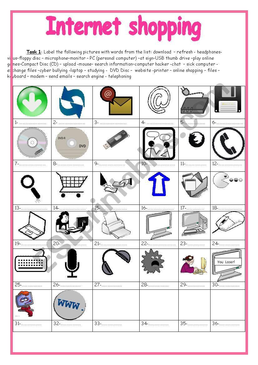 Internet shopping (9th form) +key