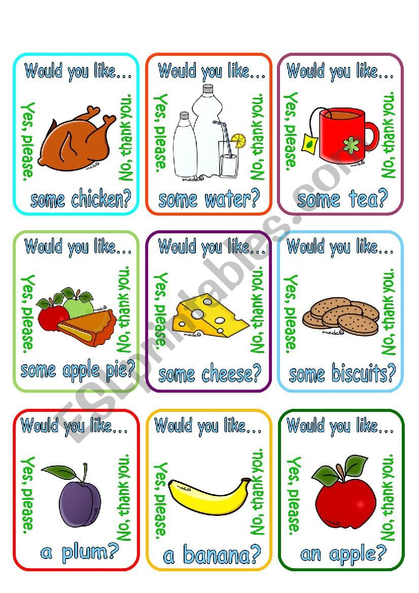 Would you like a/some ...? + food (2/2)