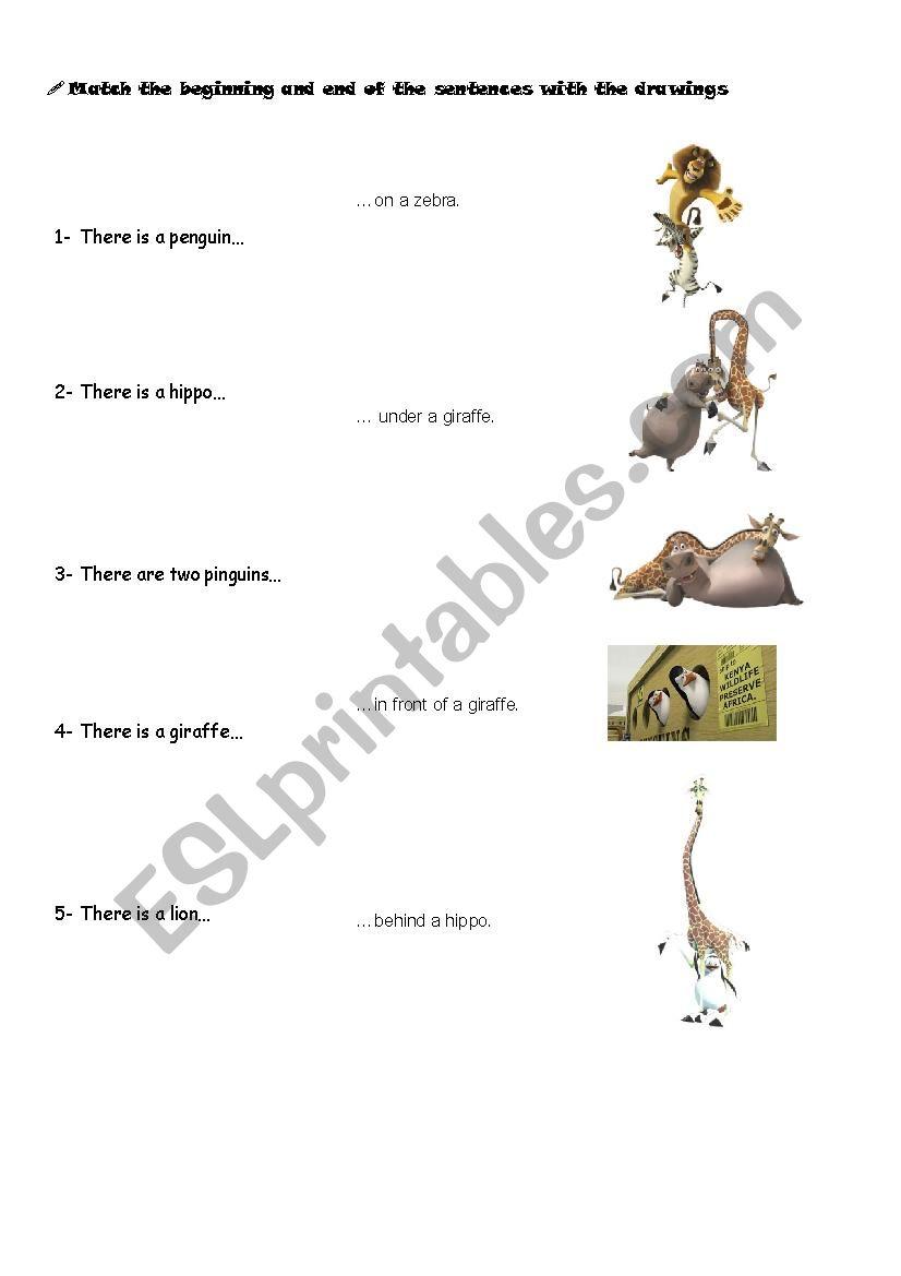 MADAGASCAR MATCHING worksheet
