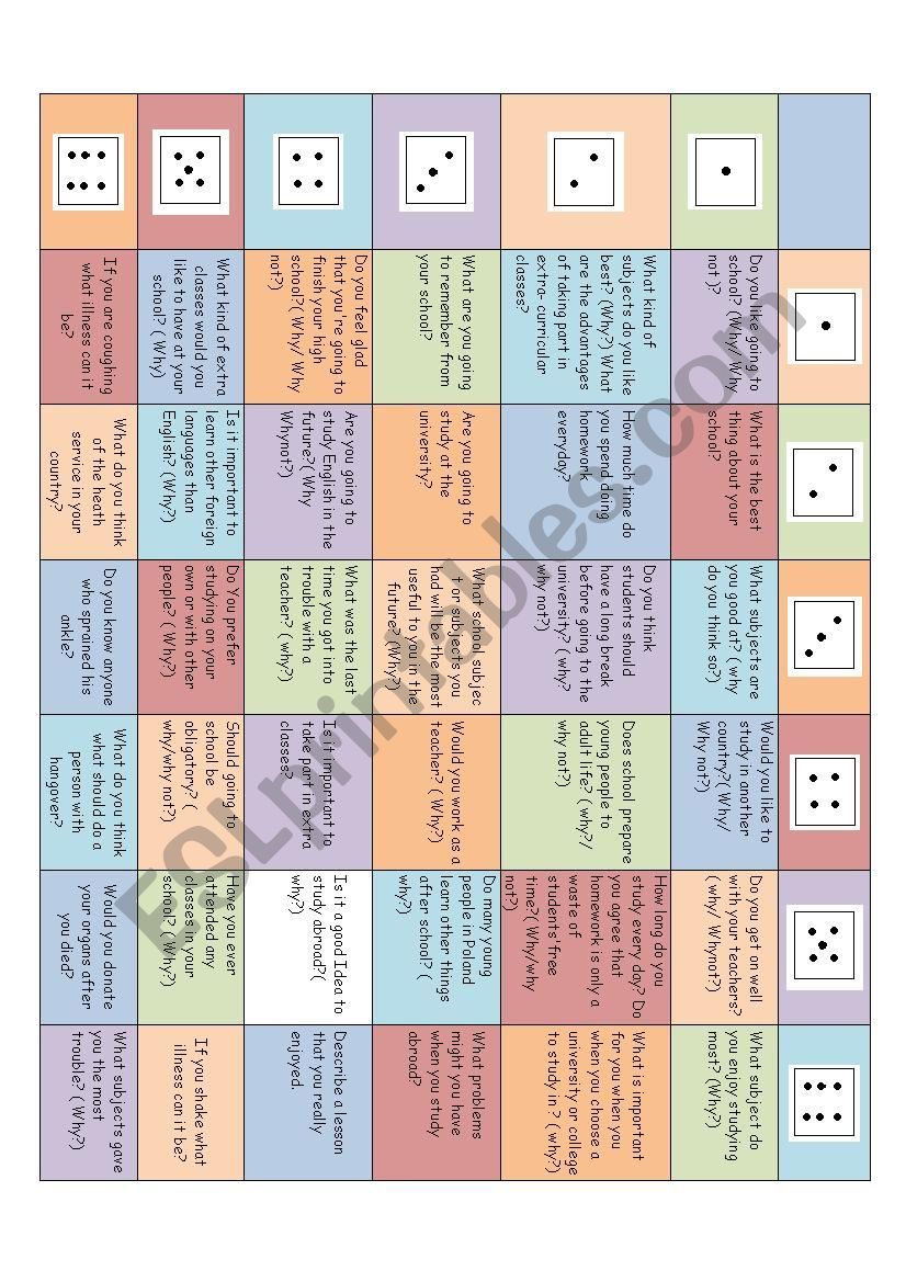 game with education worksheet