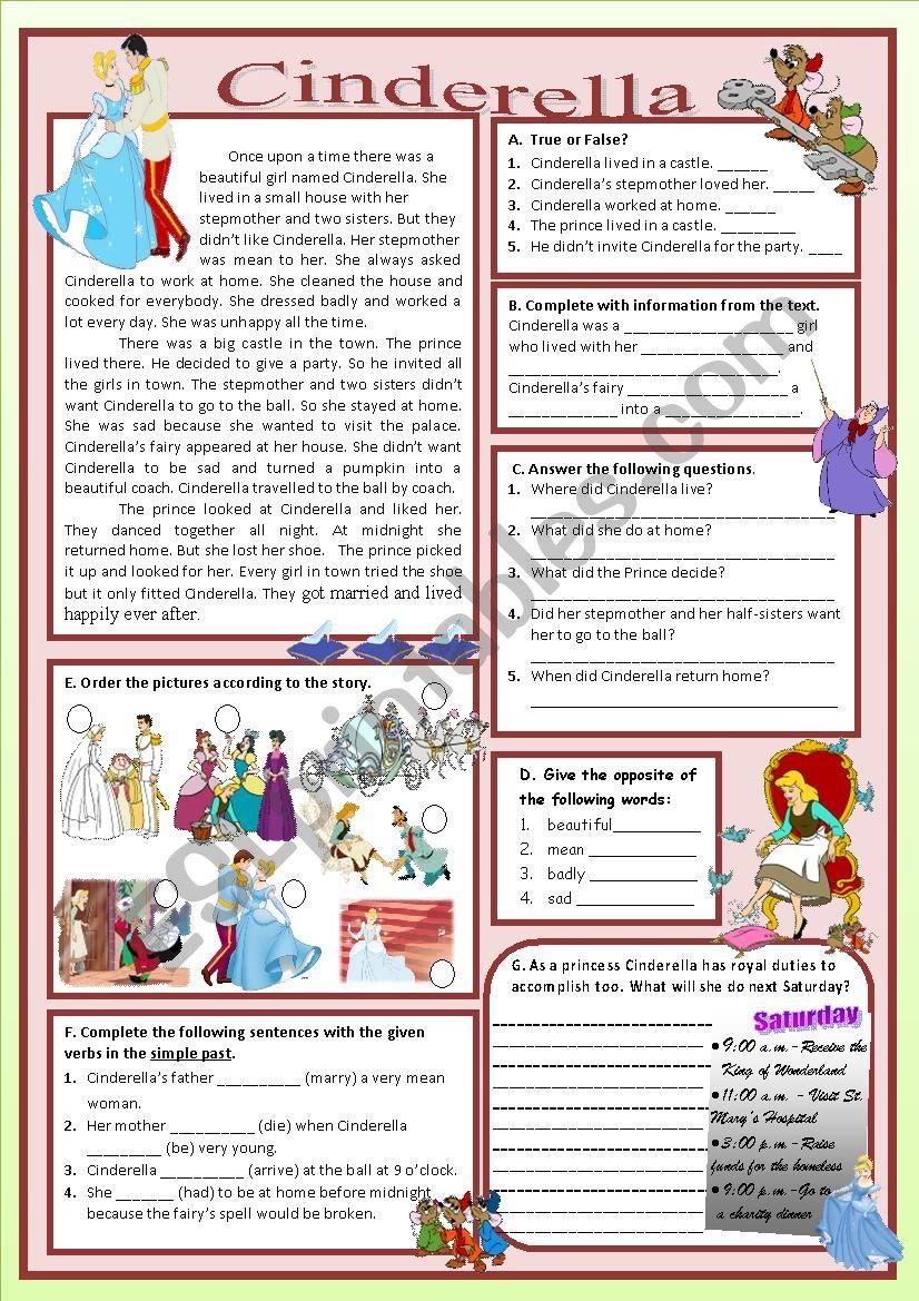 CINDERELLA  worksheet
