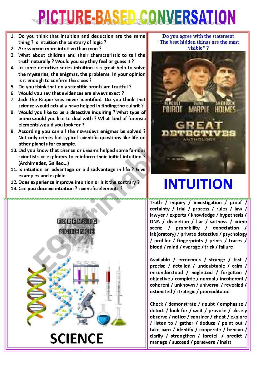 Picture-based conversation : topic 7 - intuition vs science