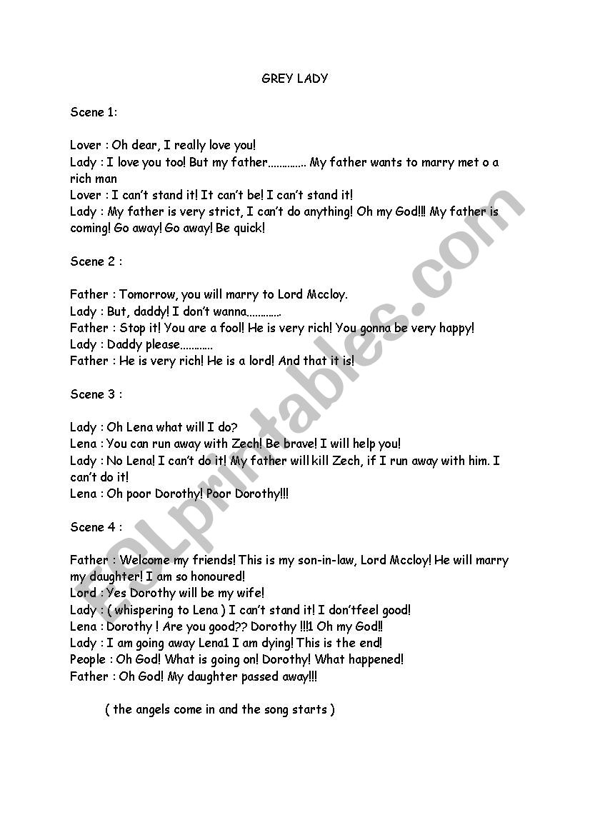 Grey Lady - ESL worksheet by erkantona
