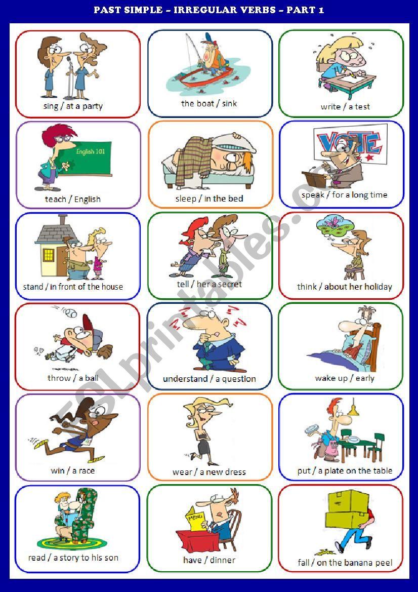 Irregular Verbs Exercises Simple Past Business English