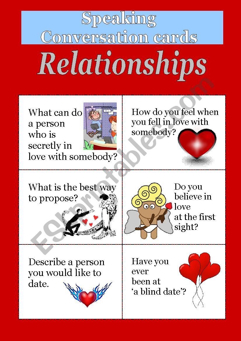 Speaking cards - Relationships