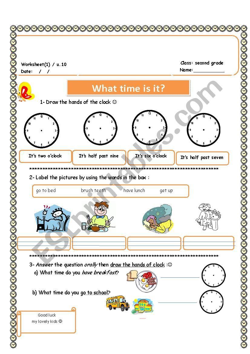 time ( quiz)  worksheet