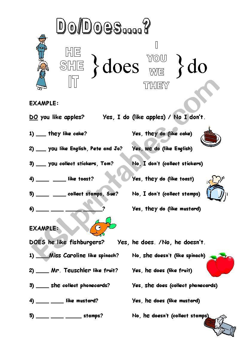 Do/Does worksheet