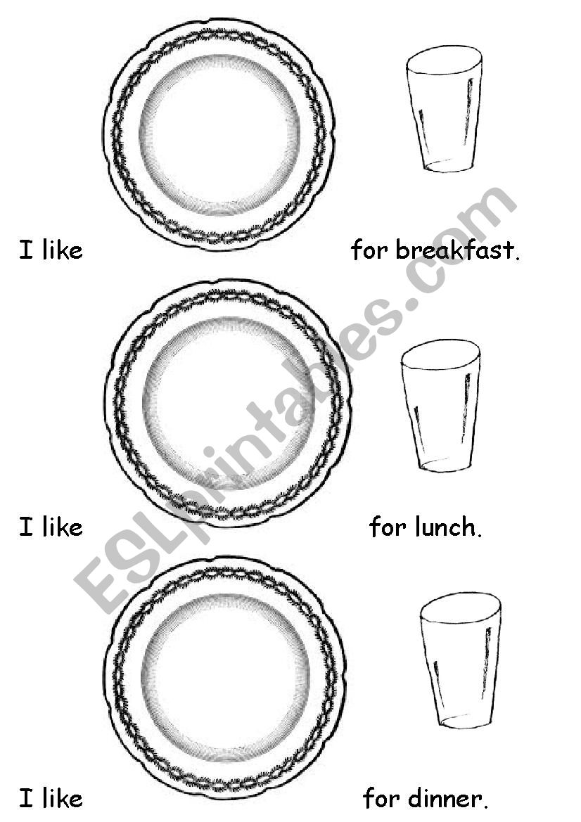 I like....for breakfast worksheet