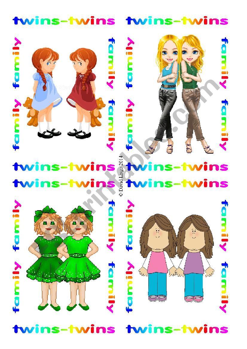 Family Flash Cards: 73-80 worksheet