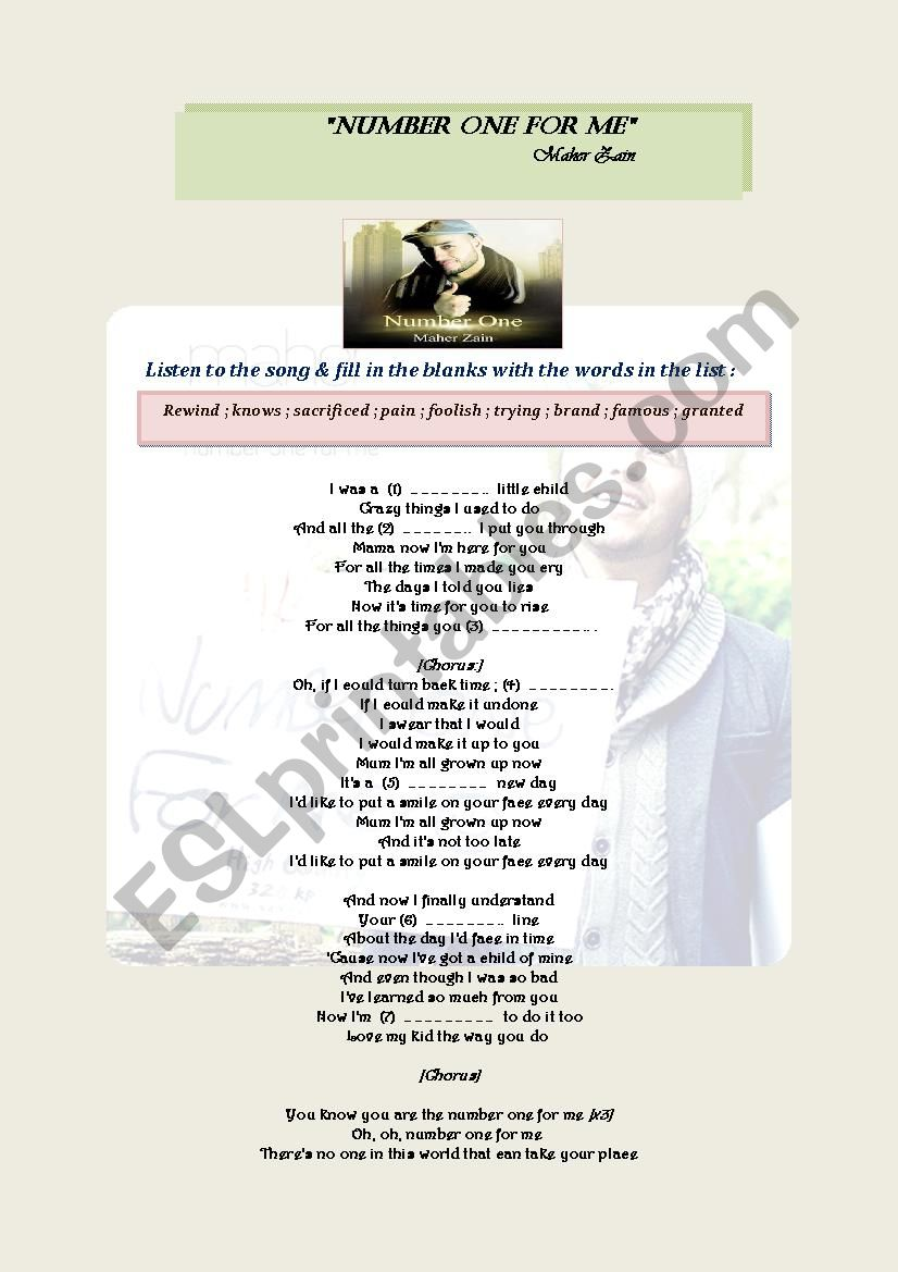 Maher Zain (Number One For Me)
