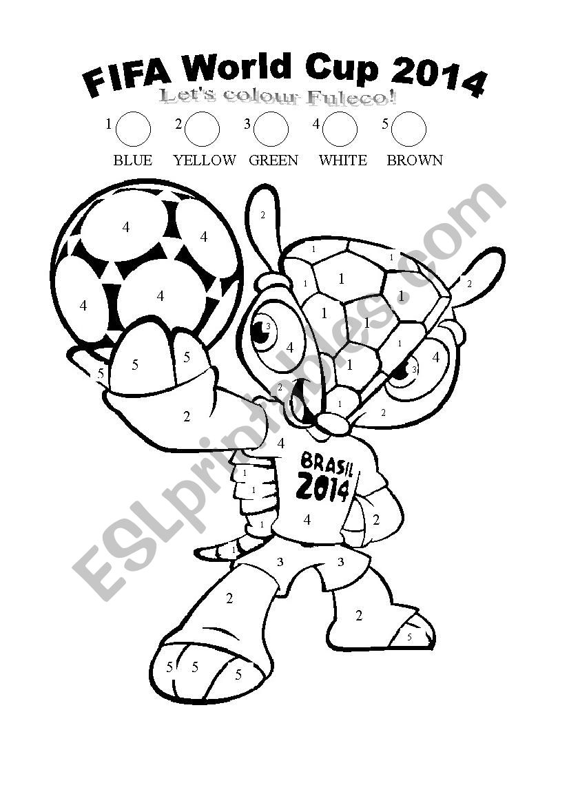 Word Cup 2014 Mascot worksheet