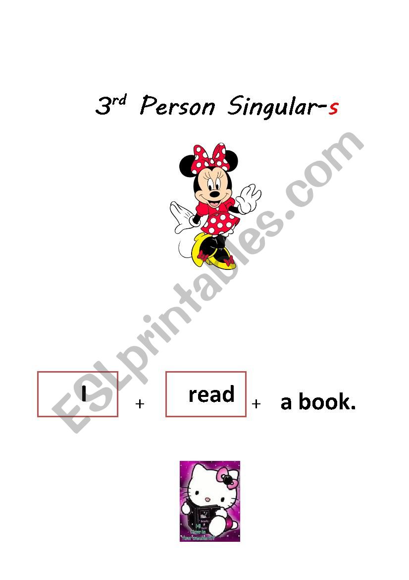 image relating to Printable Sentence Strips named Sentence Strips-3rd particular person singular-s and month-to-month verb