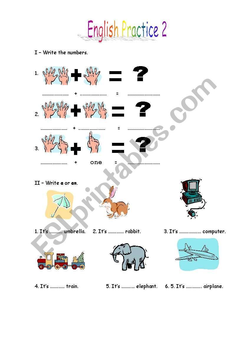 English Practice 2 worksheet