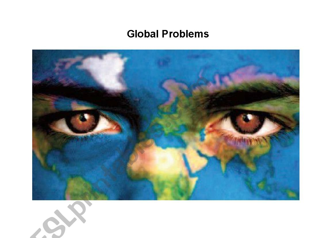 Collocations - Global Problems, a lexis lesson