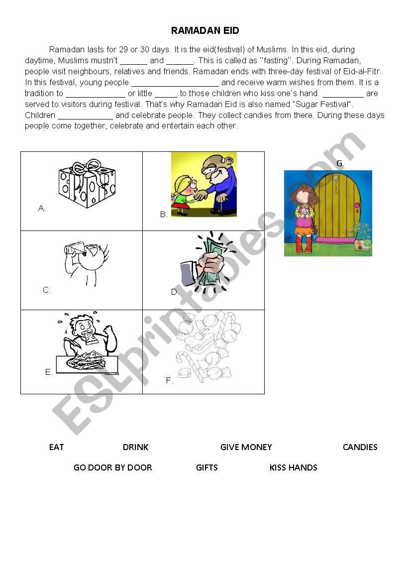 RAMADAN EID worksheet