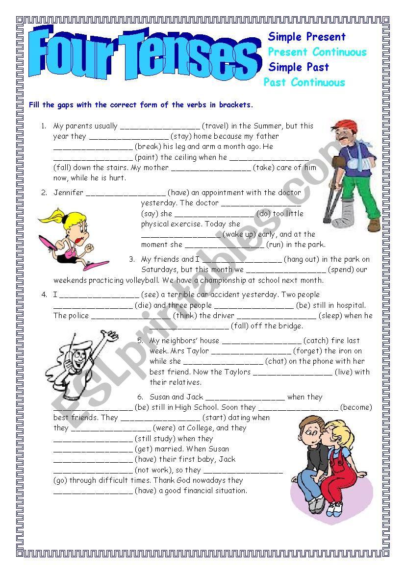 Four Tenses worksheet