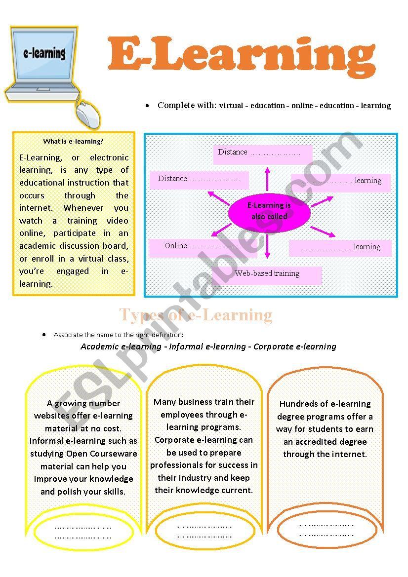 e-learning worksheet