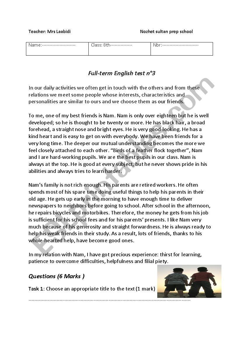 full-term test 3 worksheet