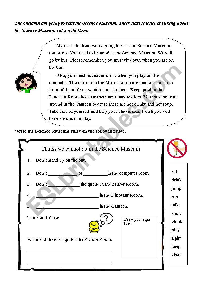 Follow the signs worksheet
