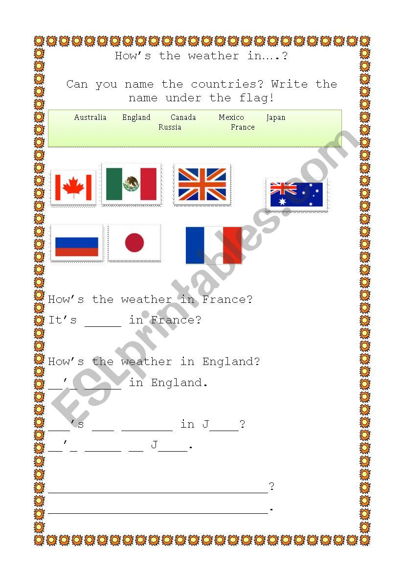 How´s the weather? worksheet