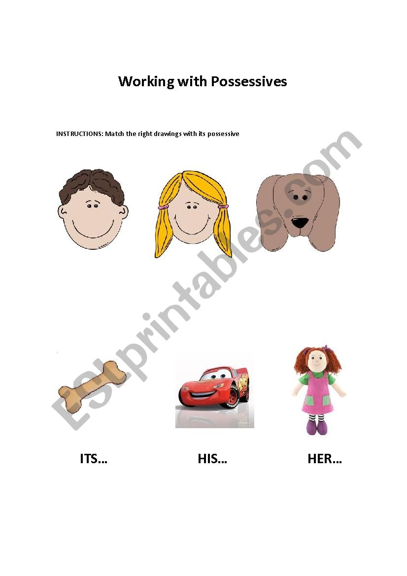 Possessive His, Her and Its worksheet