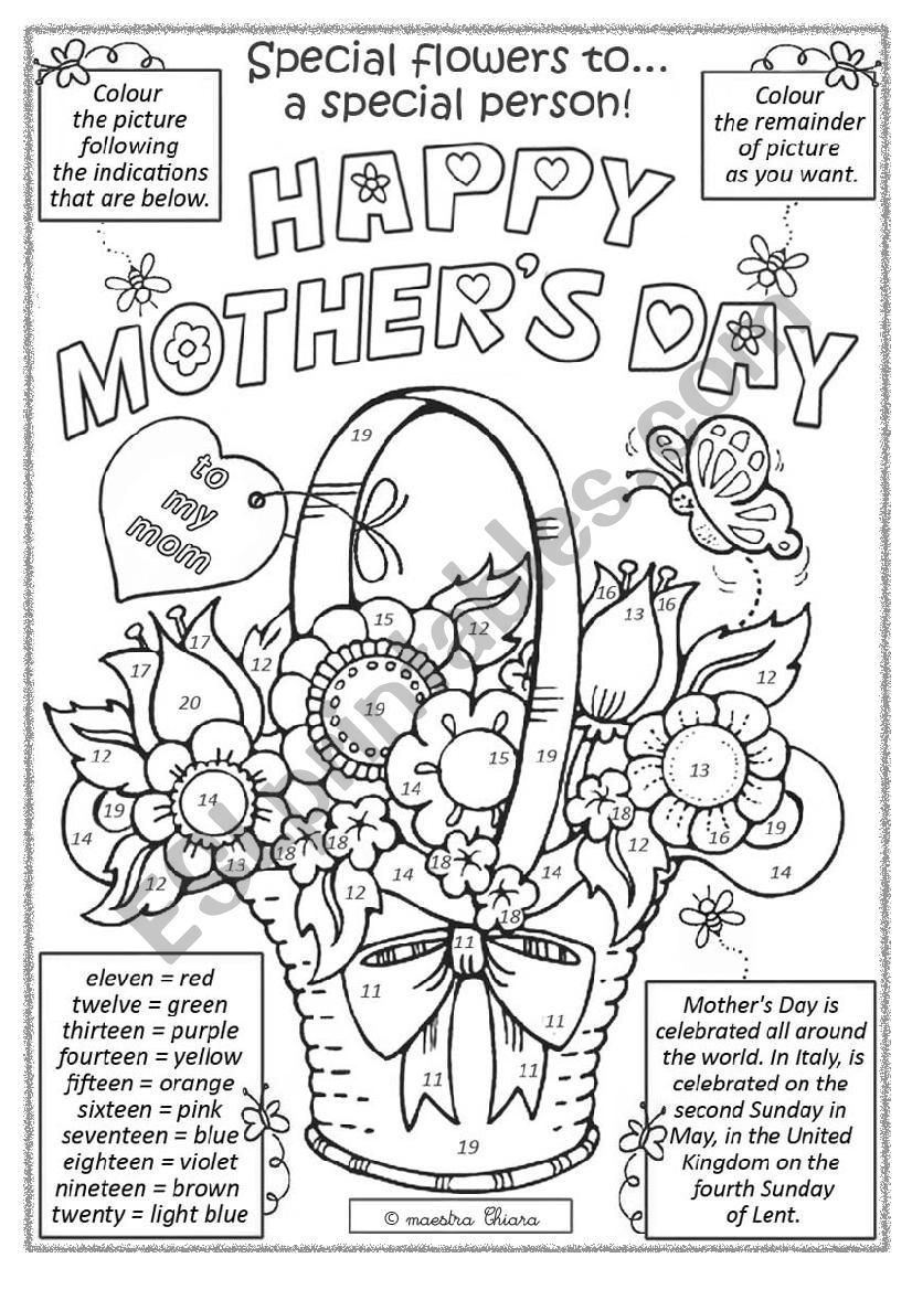 Mother´s Day activity worksheet