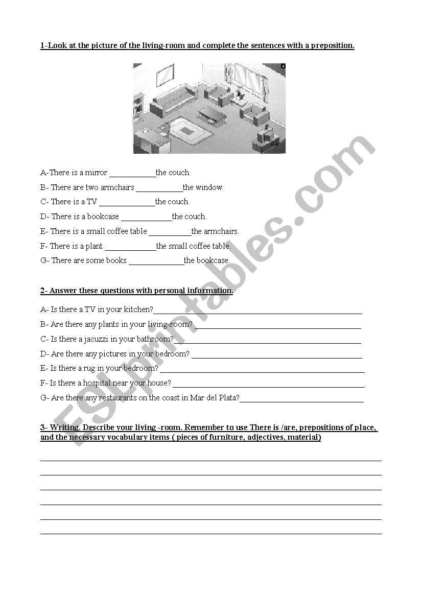Room description worksheet