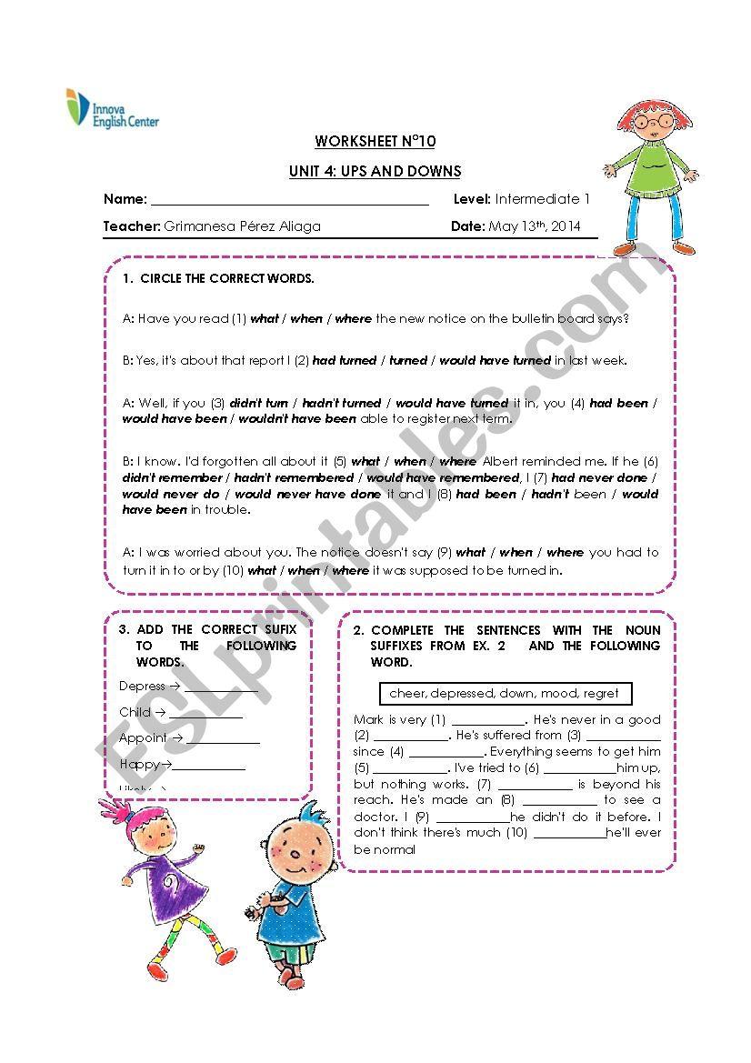 Noun clauses  worksheet