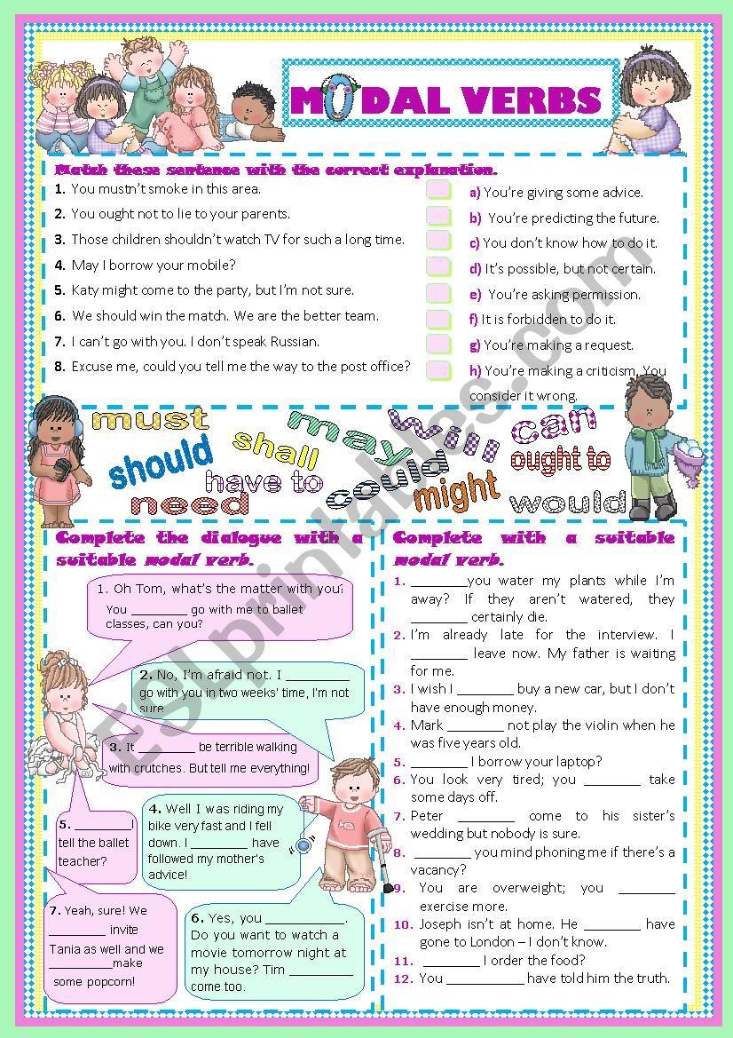 MODALS - Practice worksheet