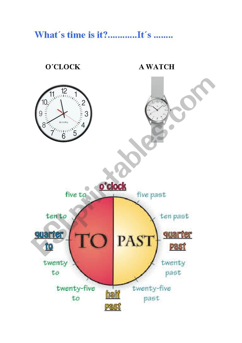 What´s time is? worksheet