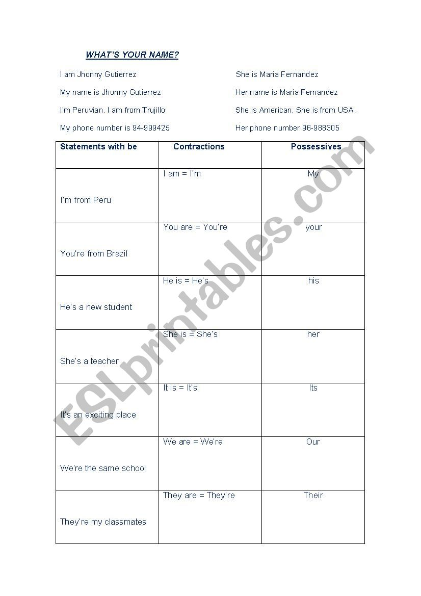 What´s your name? worksheet