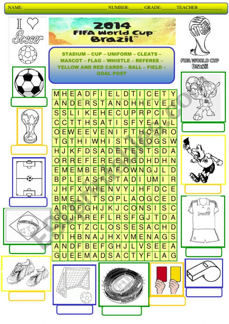 World Cup 2014 worksheet