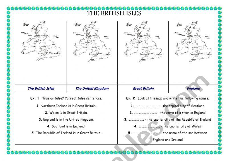The British Isles worksheet