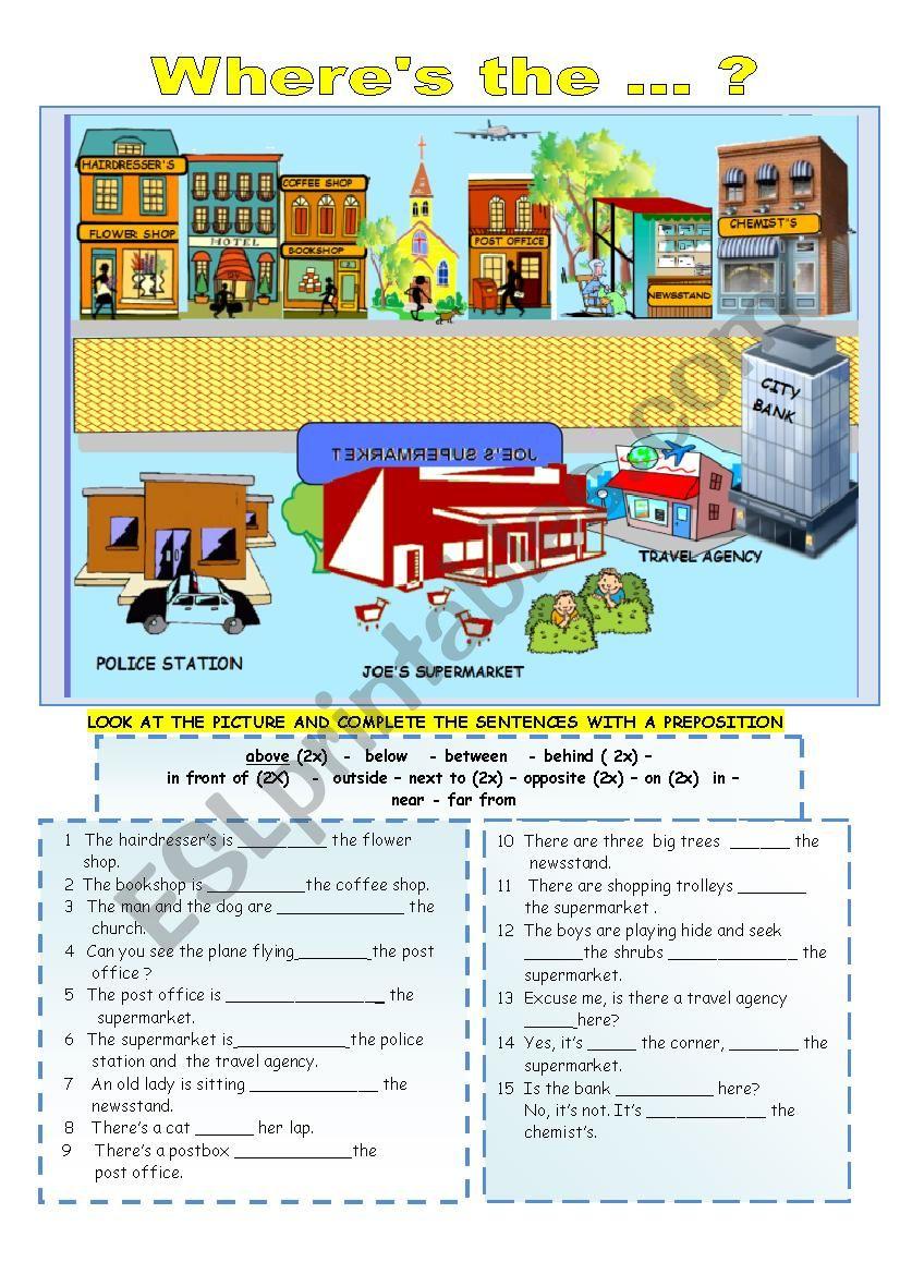 prepositions of location esl worksheet by alexia11. Black Bedroom Furniture Sets. Home Design Ideas